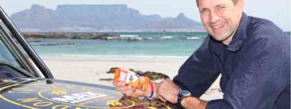 Mac in Africa on the group's journey to Cape Town (Max Adventures)