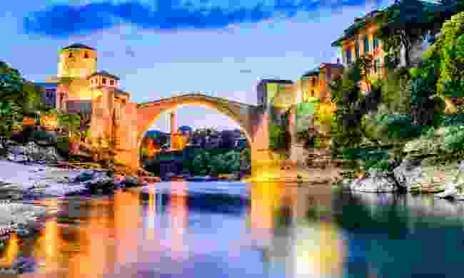 Stari Most at sunset (Shutterstock)
