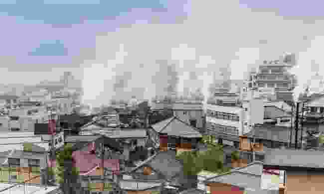 The steaming city of Beppu