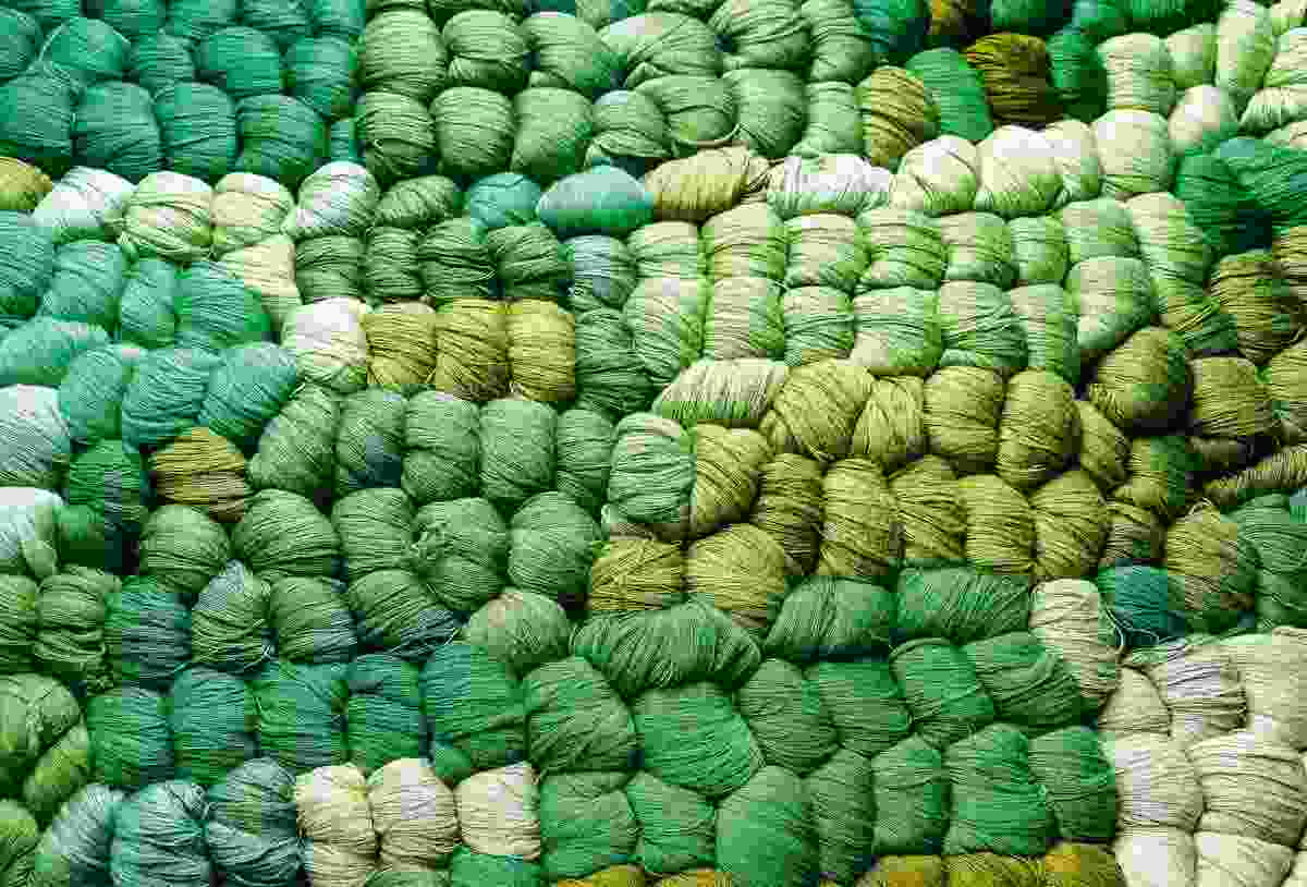 Wool for sale in Chichicastenango market (Sarah Gilbert)
