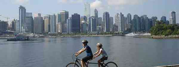 Stanley Park, Vancouver has fantastic bicycle routes with sublime views of the city (mjb84)