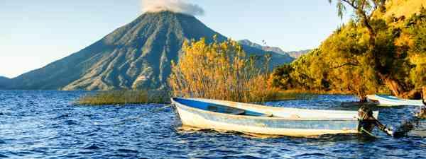 San Pedro Volcano and Lake Atitlan, Guatemala (Shutterstock)