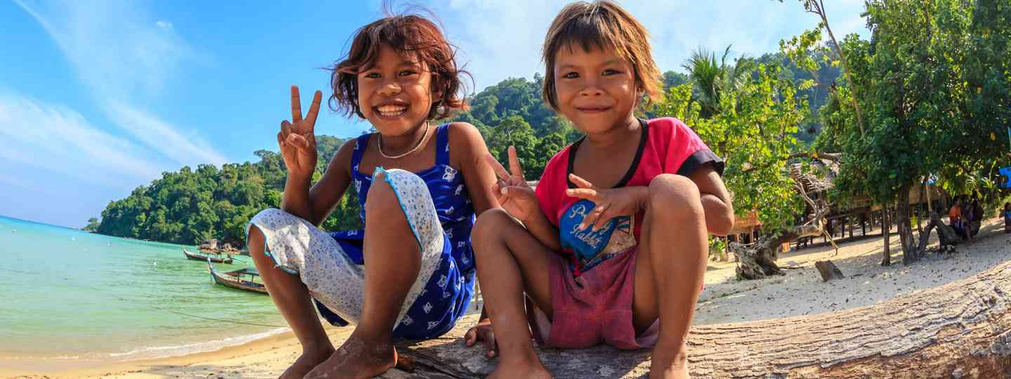 Moken children in Thailand (Dreamstime)