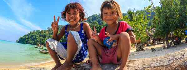 Moken children in Thailand (Dreamstime)