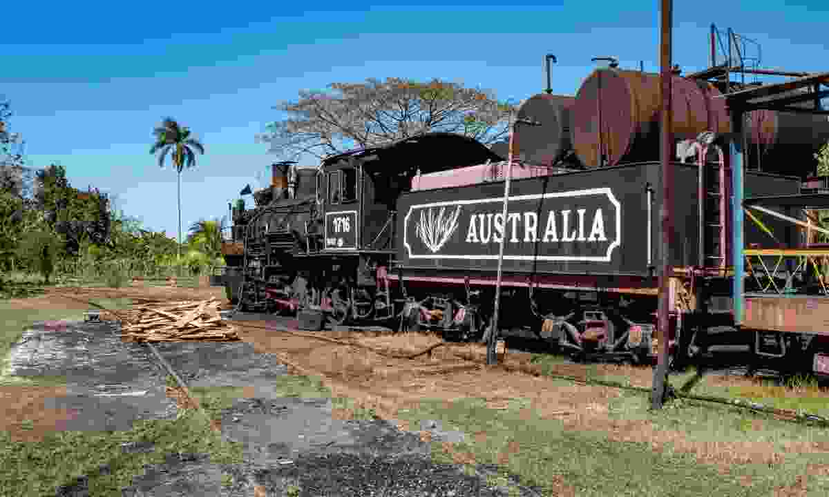 Stationary steam train at Central Australia sugar mill  (Claire Boobbyer)