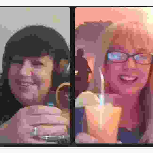 Lyn and Nadine enjoyed their rum cocktails