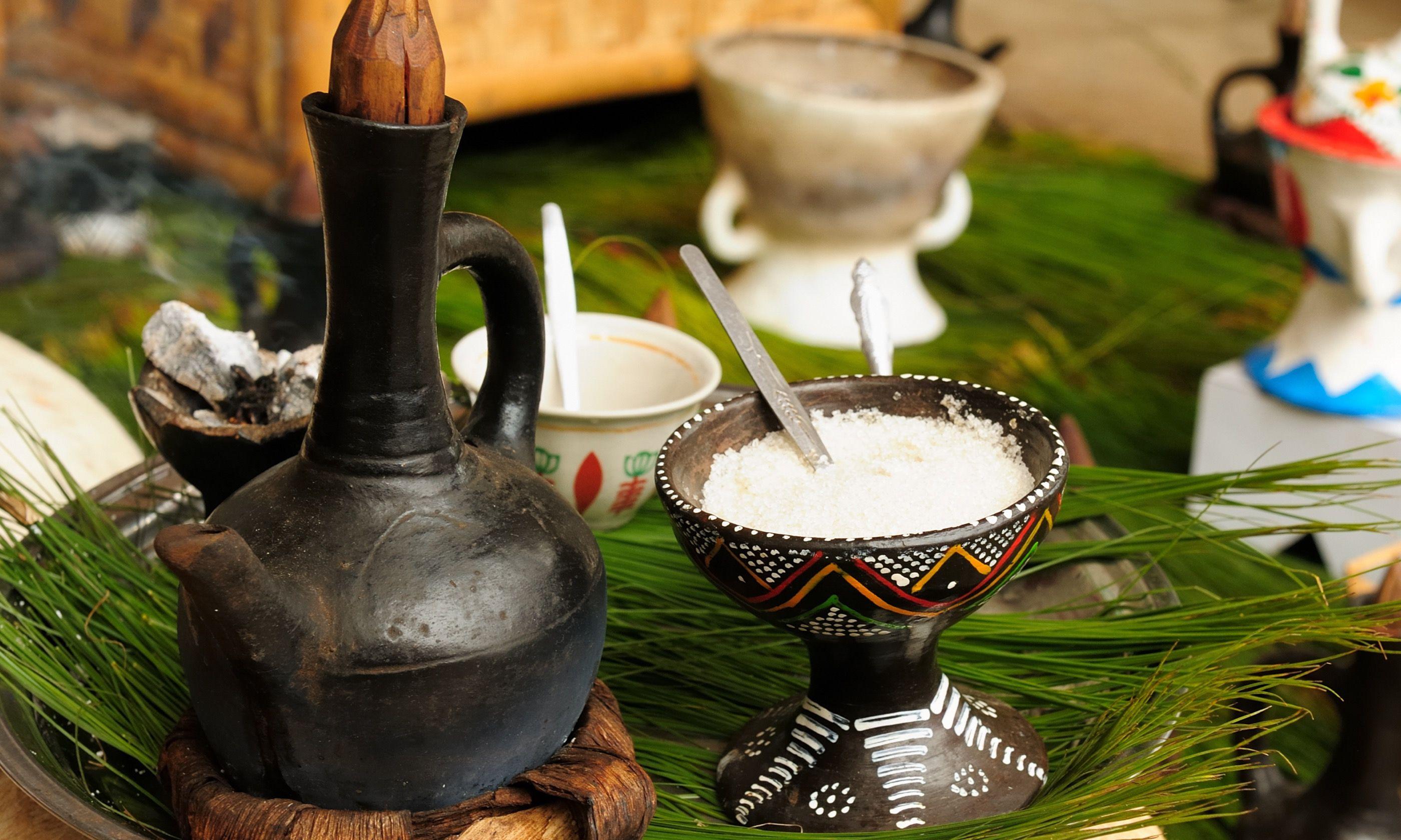 Ethiopian coffee ceremony (Shutterstock.com)