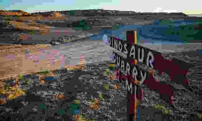 Utah's dino sites (Cleveland Lloyd/ Mark Olser)