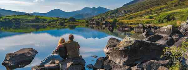 Dave and Debra enjoying the great outdoors in Wales (The Planet D)