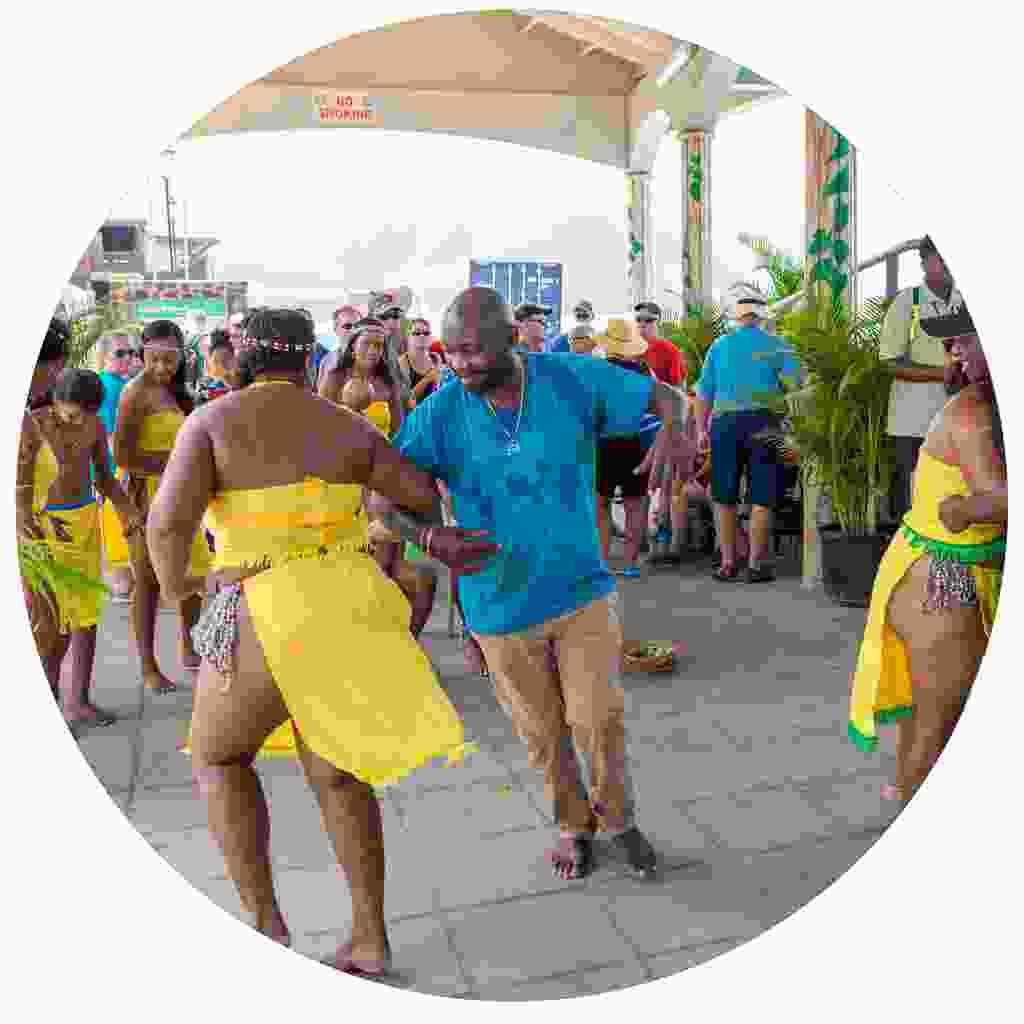 Kalinago dancing