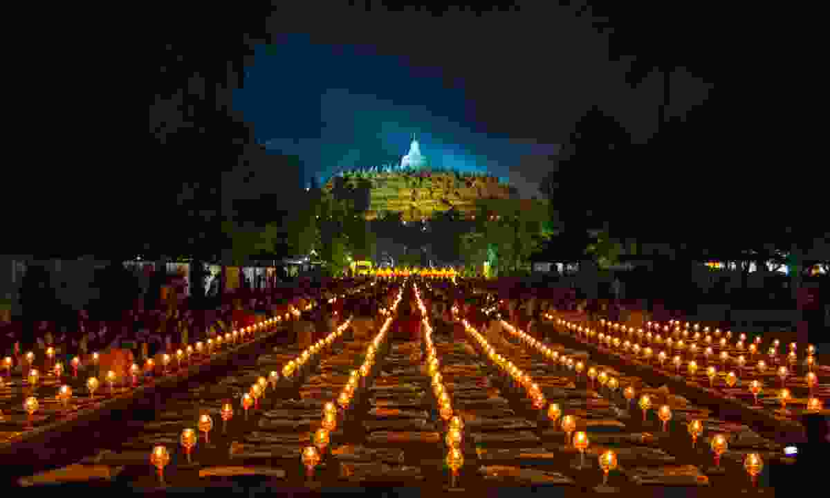 Candles at Borobudur (Shutterstock)