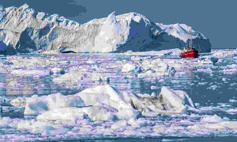 Some of the huge icerbergs of Disko Bay (Dreamstime)