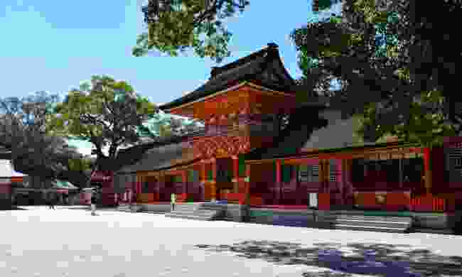 The impressive red Usa Shrine