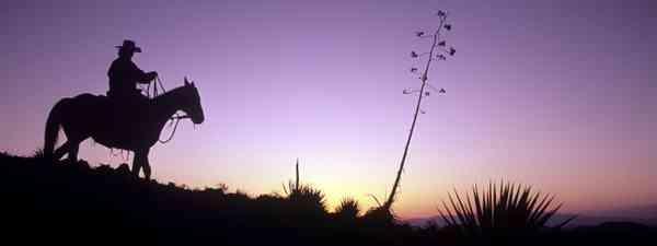 On the range at sunset (Dreamstime)