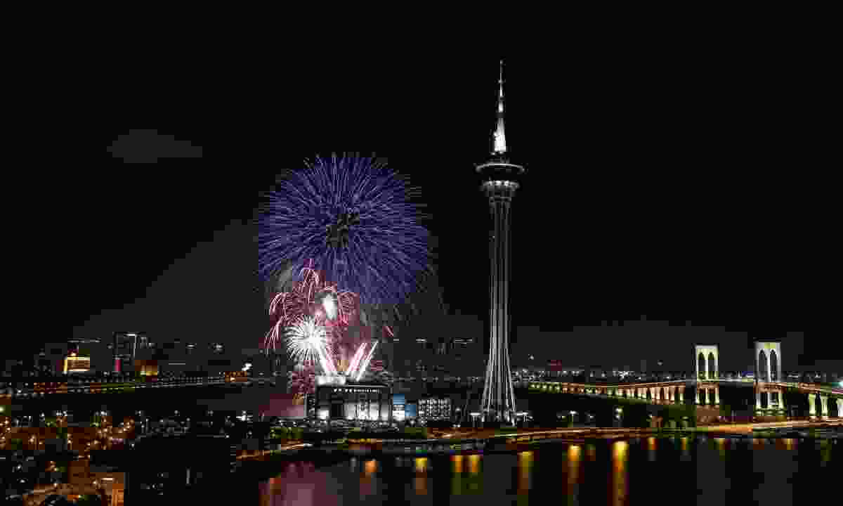 Fireworks near Macau Tower (Macao Government Tourism Office)
