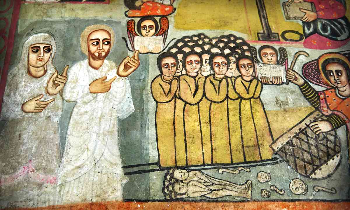 Mural in Lake Tana monastery (Shutterstock.com)