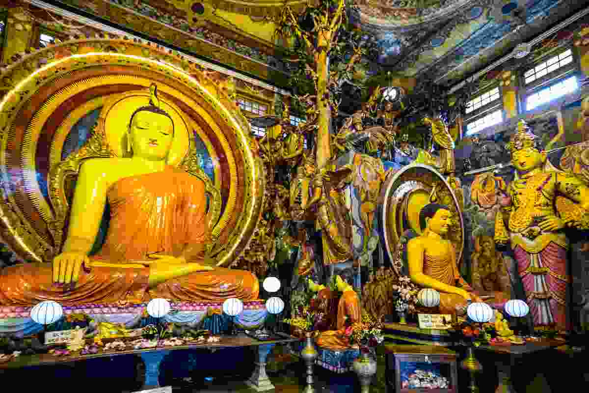 The Buddhist temple Gangaramaya in Colombo, Sri Lanka (Dreamstime)