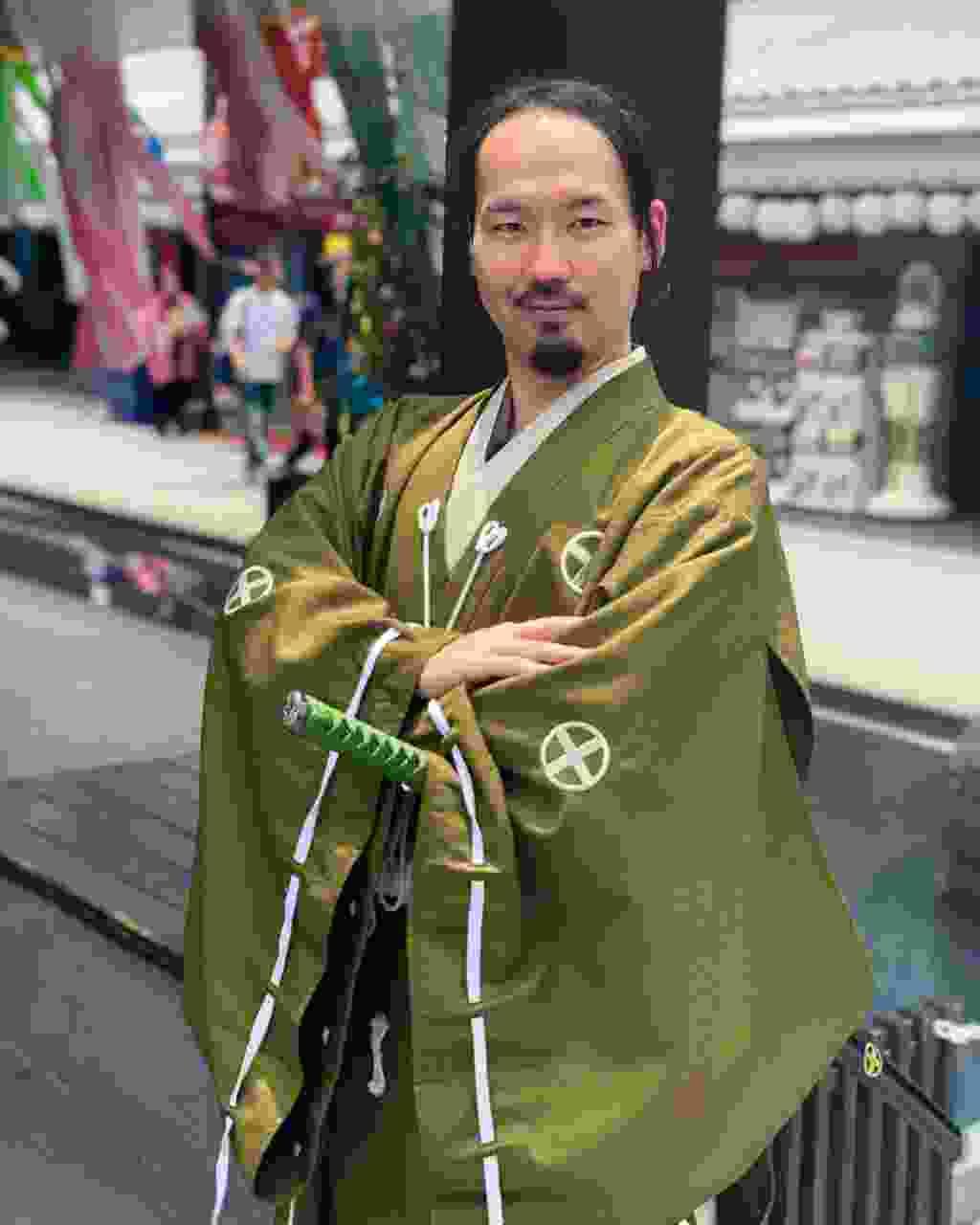 A samurai at Kumamoto Castle