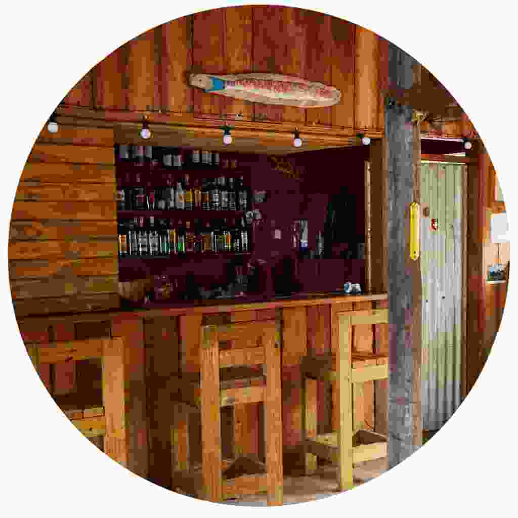 Enjoy a drink and a chat in a Dominican bar