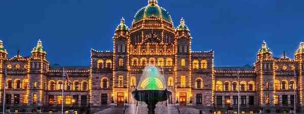 The Legislative Building of Victoria BC, capital of British Columbia, Vancouver Island (Shutterstock)