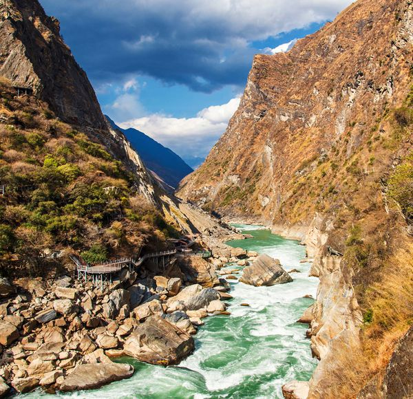 If you like this, try... Tiger Leaping Gorge, Yunnan. From Lijiang, spend three-four days hiking this dramatic canyon.