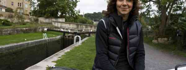 Julia Bradbury walking in Bath