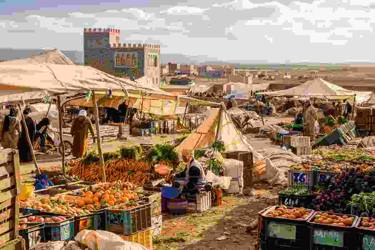 Guelmim's weekly food market (Shutterstock)