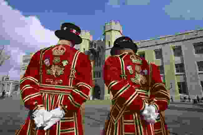 Tower of London, Yeoman Warders aka Beefeaters in state dress (Steve Vidler)