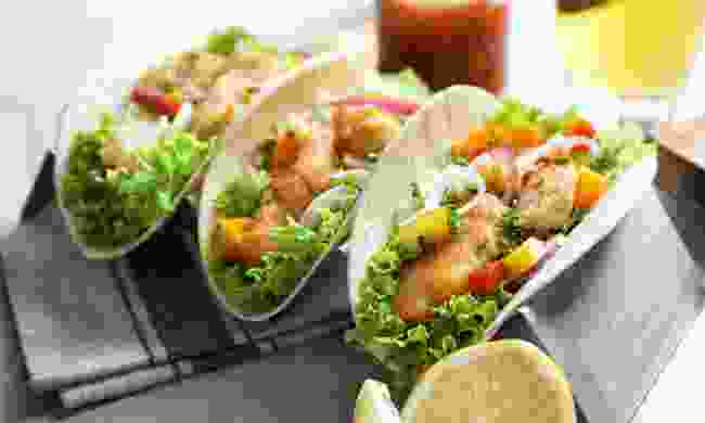 Fish tacos. Delicious. (Shutterstock)