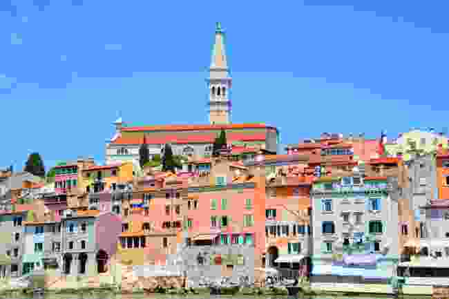 Climb a colourful hike to reach the Church of St Euphemia (Shutterstock)