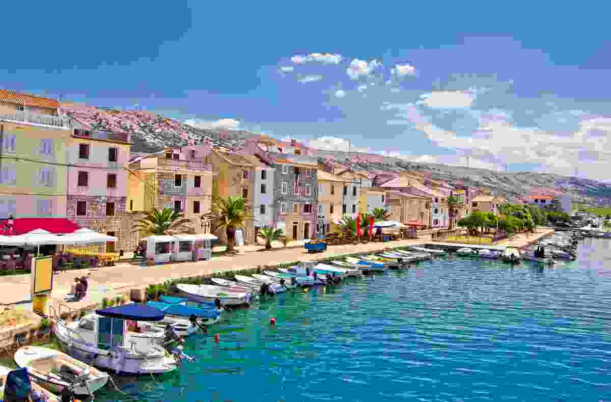 The island of Pag's waterfront, Croatia (Shutterstock)