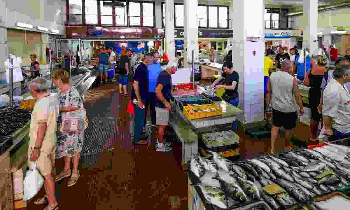 Zadar's covered fish market (Dreamstime)