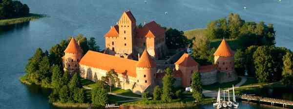 Lithuania, view of Trakai castle(travmaz)