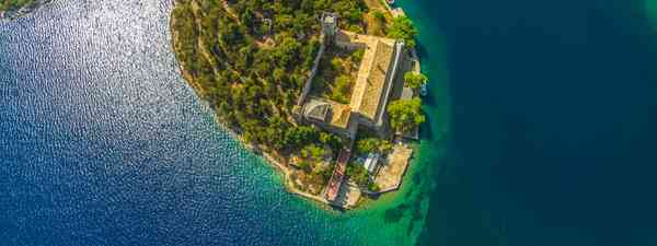 Mljet Island National Park in Croatia, shot from above (Shutterstock)