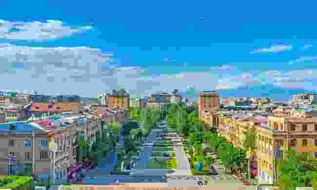 A view over Armenia's pedestrian-friendly capital city, Yerevan (Shutterstock)