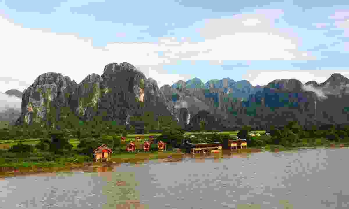 The Mekong flowing past Vang Vieng (Shutterstock)