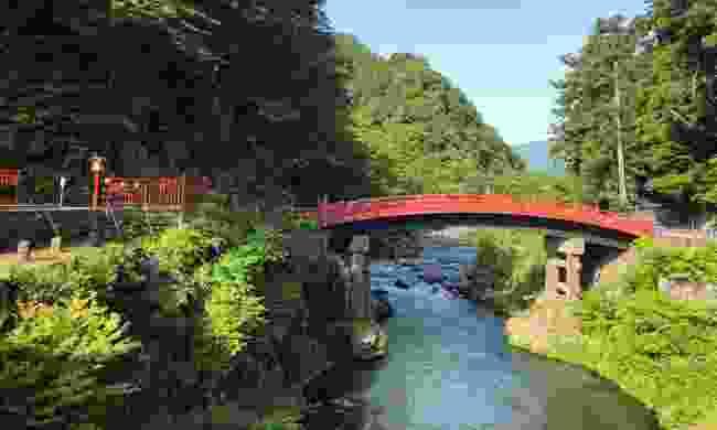 Shinkyo Bridge marks the entrance to Nikko's shrines and temples