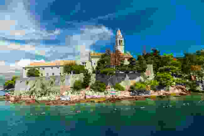 The monastery standing tall in Lopud, Croatia (Shutterstock)