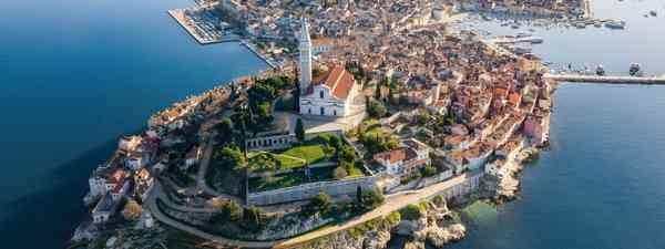 An aerial view of Rovinj, Croatia (Shutterstock)