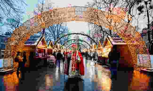 The Christmas market in Lviv, Ukraine (Shutterstock)