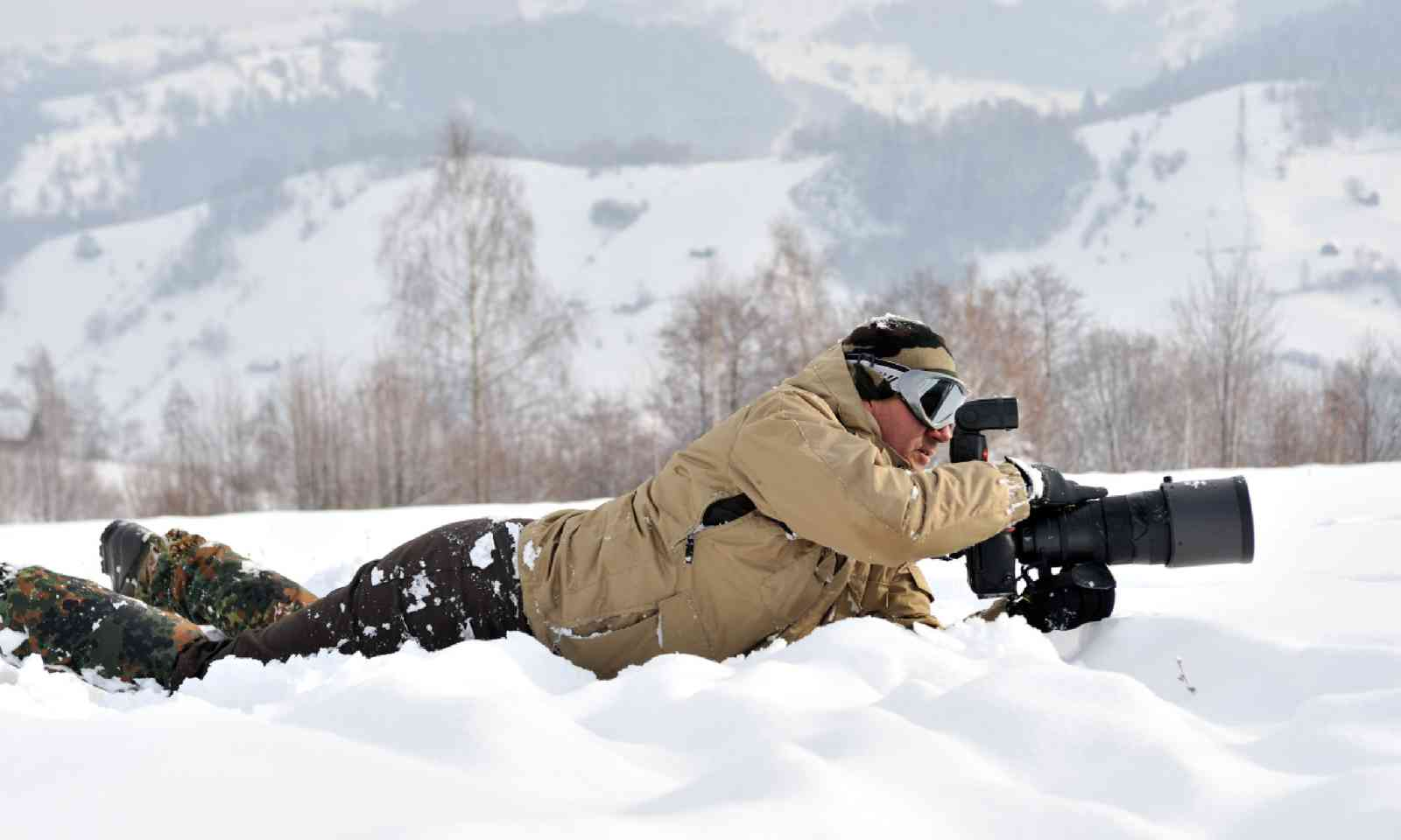 Get low – even in the snow! (Shutterstock)