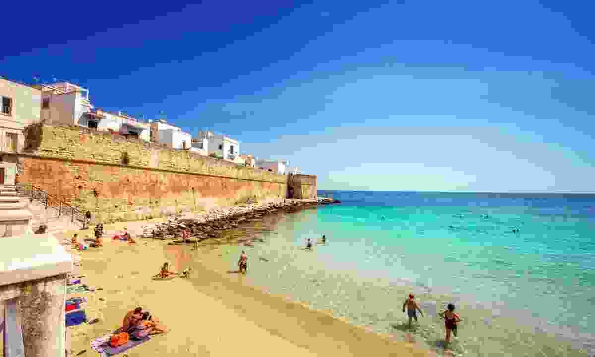 The golden beach in front of Monopoli (Shutterstock)