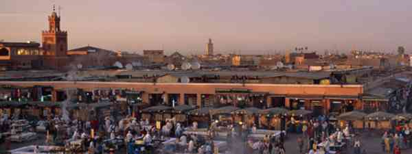 The food stalls of Djemaa el Fna, Marrakech gear up for the iftar rush (Morocco Tourist Board)