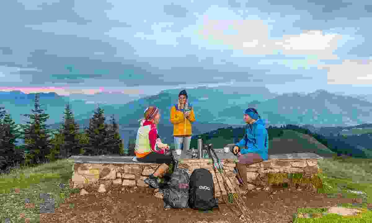 Stopping for a break in Wildschönau (Wildschönau Tourismus)