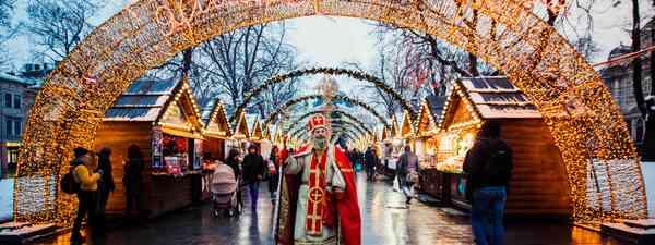Christmas market in Lviv, Ukraine (Shutterstock)