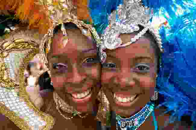 Participants in the annual Nottinghill Carnival parade (Steve Vidler)