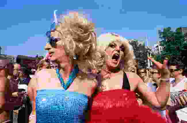 Participants in the annual Gay Pride parade (Steve Vidler)