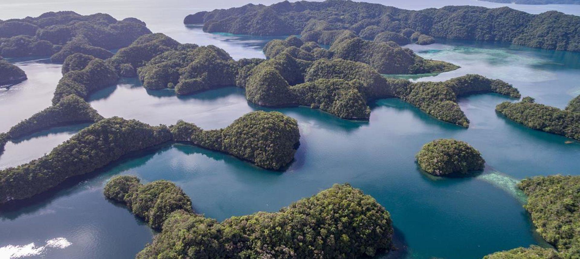 Aerial shot of Palau's famous Seventy Islands, Micronesia(dreamstime.com)