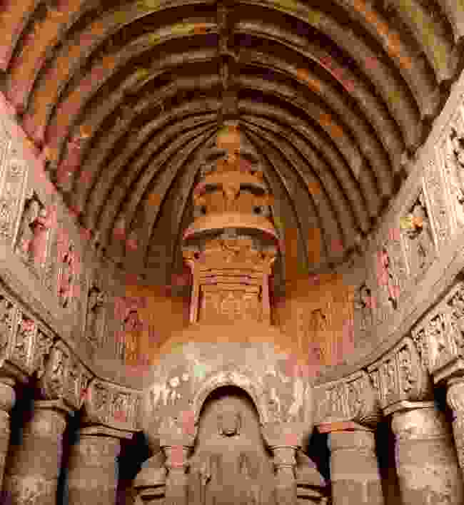 Inside one of the UNESCO-listed Ajanta Caves (Dreamstime)