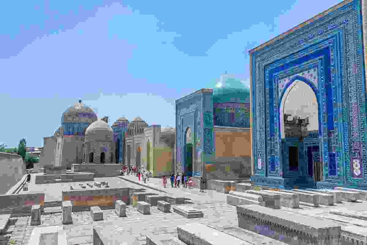 Shah-i-Zinda Necropolis in Samarkand, Uzbekistan (Dreamstime)